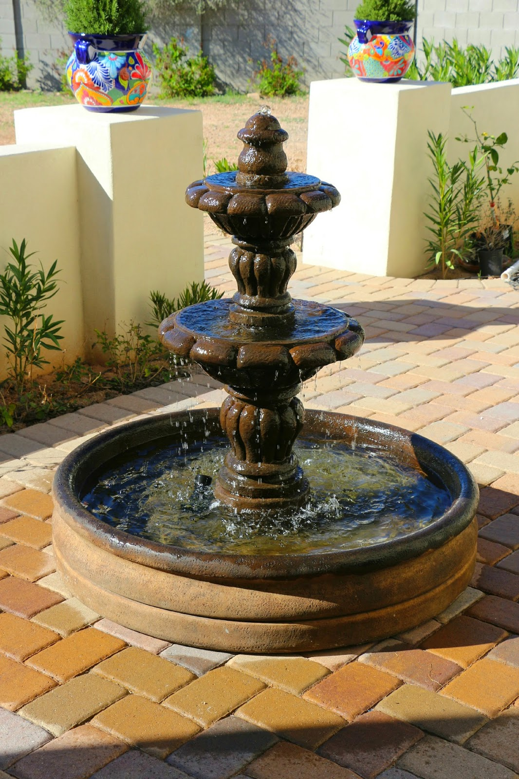 al's garden fountain, espana fountain, spanish fountain