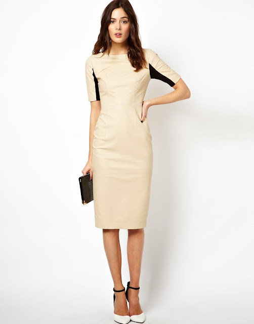 asos leather dress
