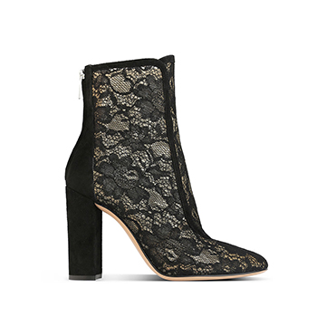 Gianvito Rossi black lace ankle boots