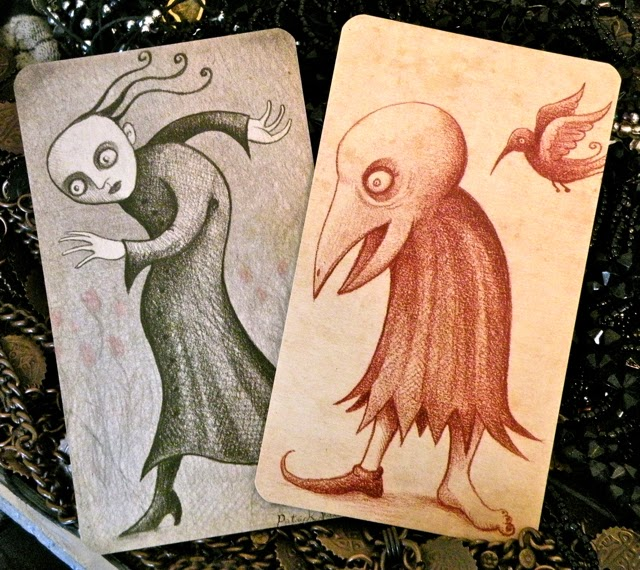 "Cards from Patrick Valenza's  ""Whispers from an Inkwell."""