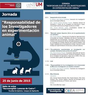 """Jornada """"Responsabilidad de los Investigadores en experimentación animal""""."""