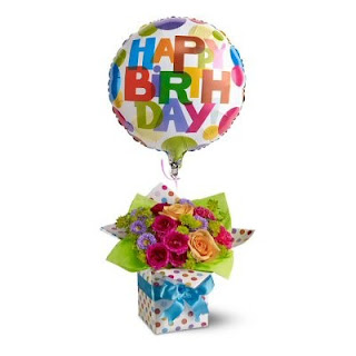 Happy Birthday Present Flowers by Teleflora