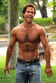 Photo of shirtless Shawn Christian