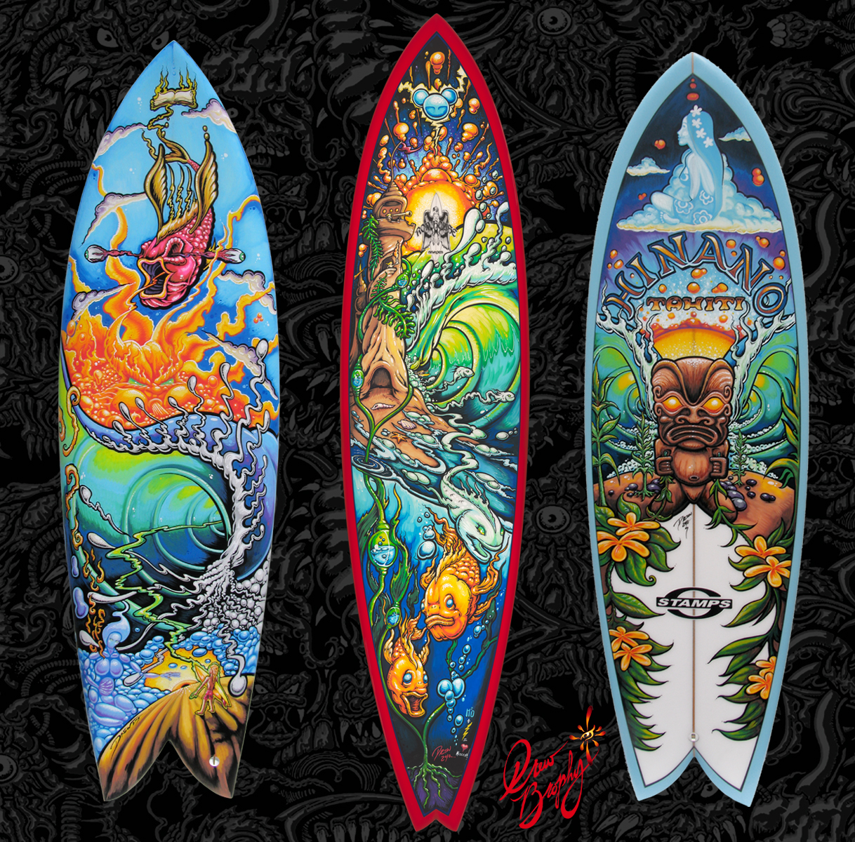 What the blank live surfboard painting and mini art for Awesome surfboard designs