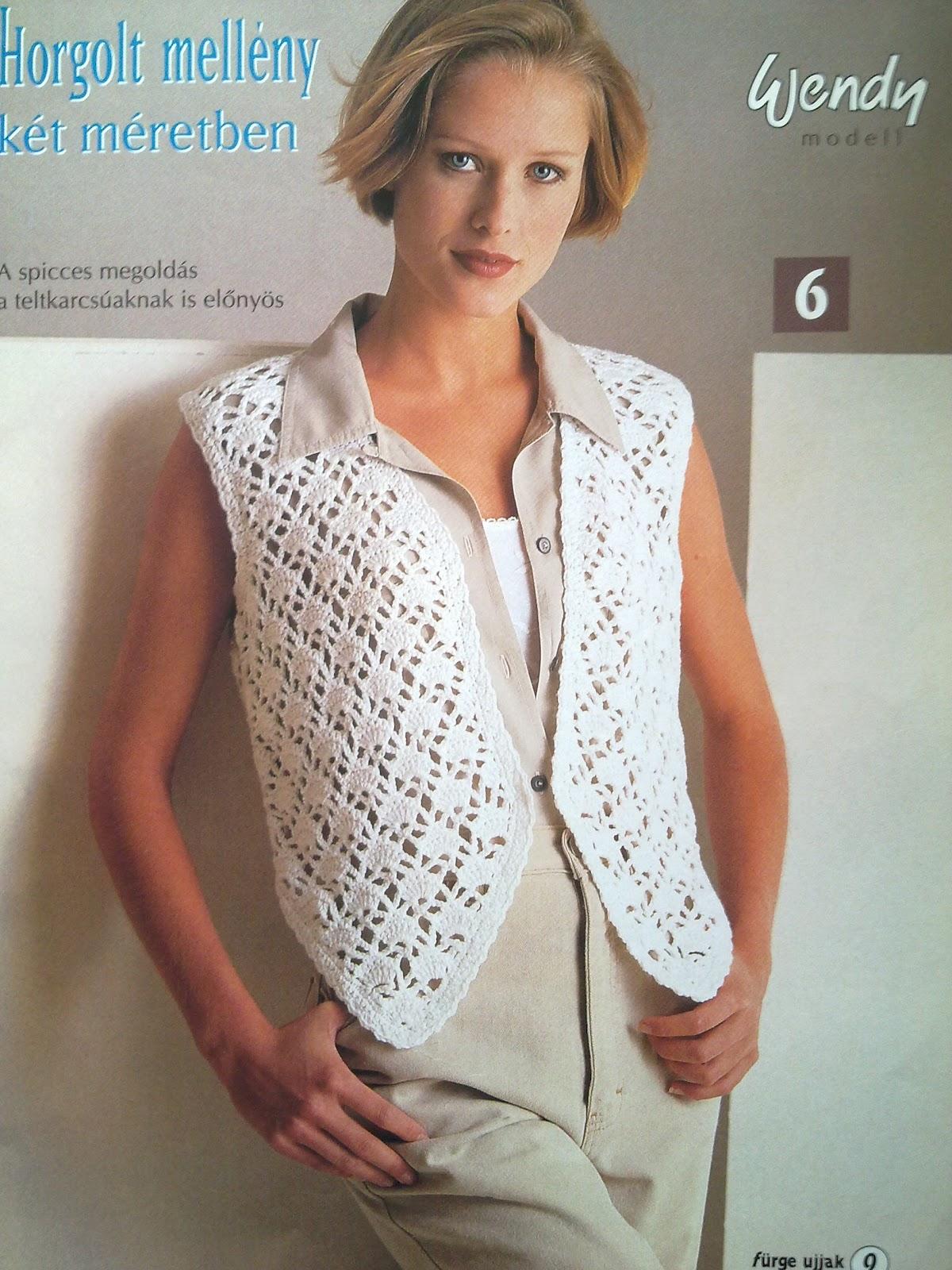 Вязание женский жилеты крючок 20