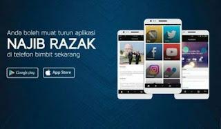 Najib Perkenal Aplikasi Baharu Telefon Pintar
