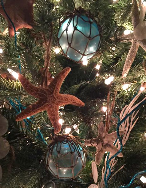 Glass Float Net Tree Ornaments