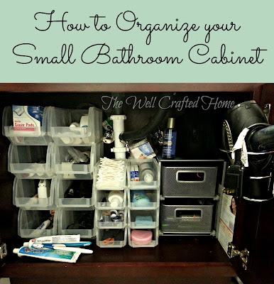 The well crafted home made by me mondays 19 organized bathroom cabinet for How to organize bathroom cabinets