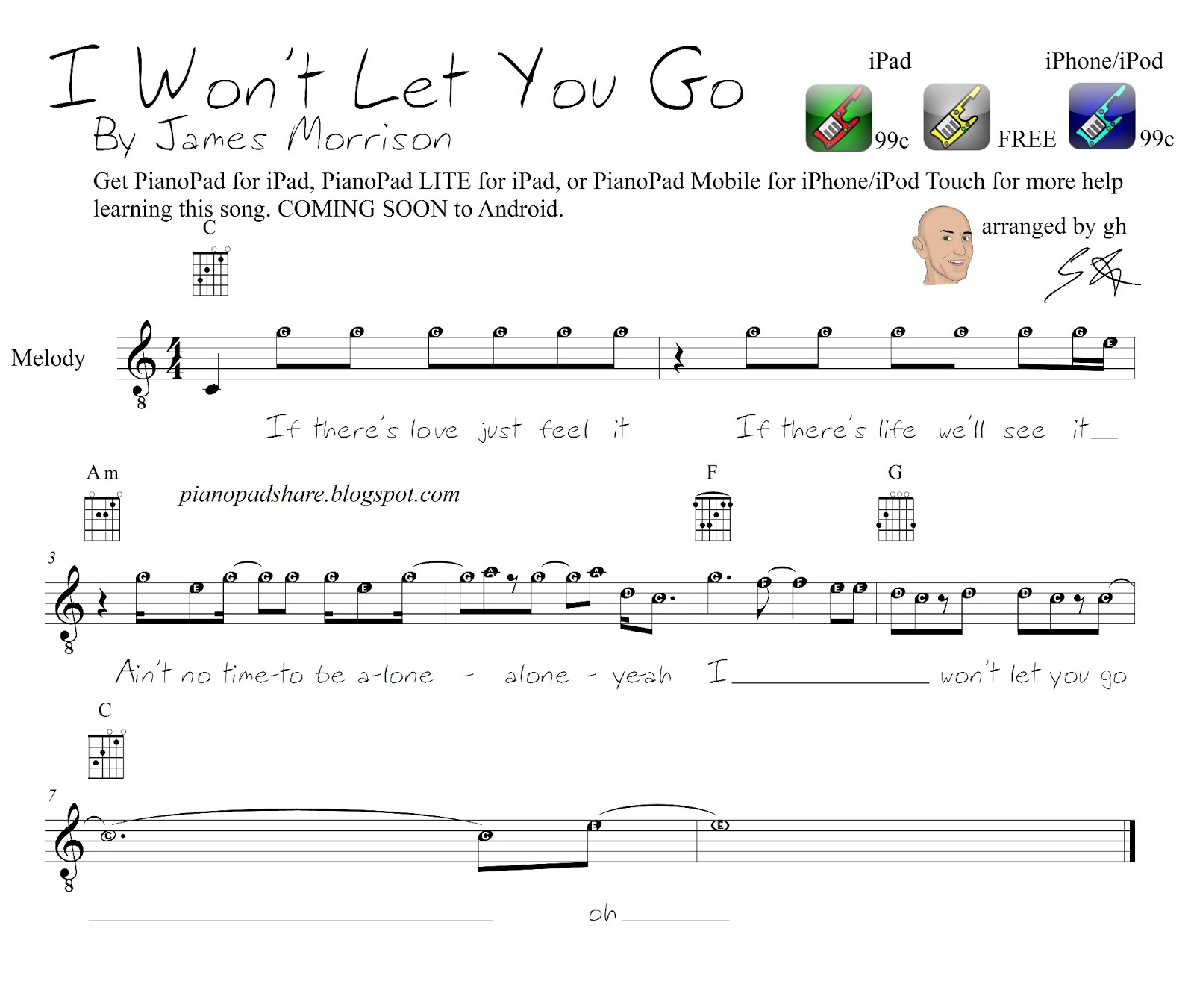 http://4.bp.blogspot.com/-zcvkHsQS-KY/UPKBqbcgZ4I/AAAAAAAABbA/S9nIk8VHsys/s1600/James+Morrison+-+I+Won\'t+Let+You+Go+-+Sheet+Music+-+piano+guitar+chords+easy+with+letters+for+pianopad+app+users.jpg