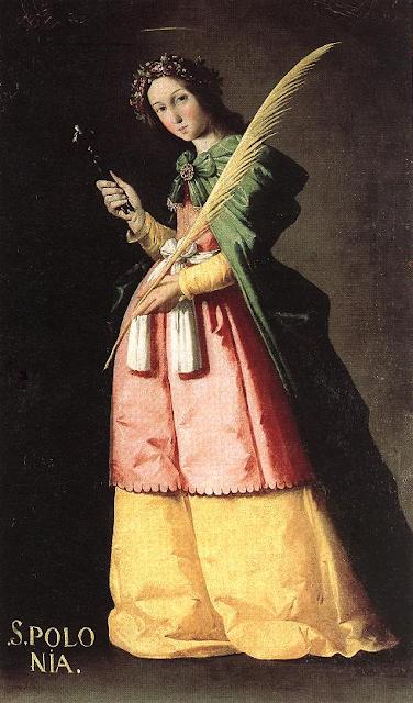η Αγία Απολλωνία, πίνακας του Francisco de Zurbarán