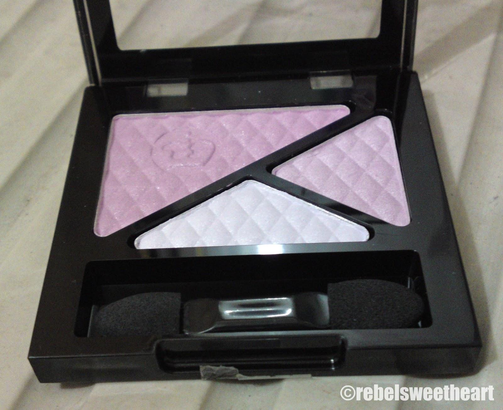 The Rebel Sweetheart Spotlight Rimmel Glameyes Trio Eyeshadow 1 Purple Is Love