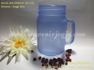Souvenir Gelas Sablon Jar Harvest