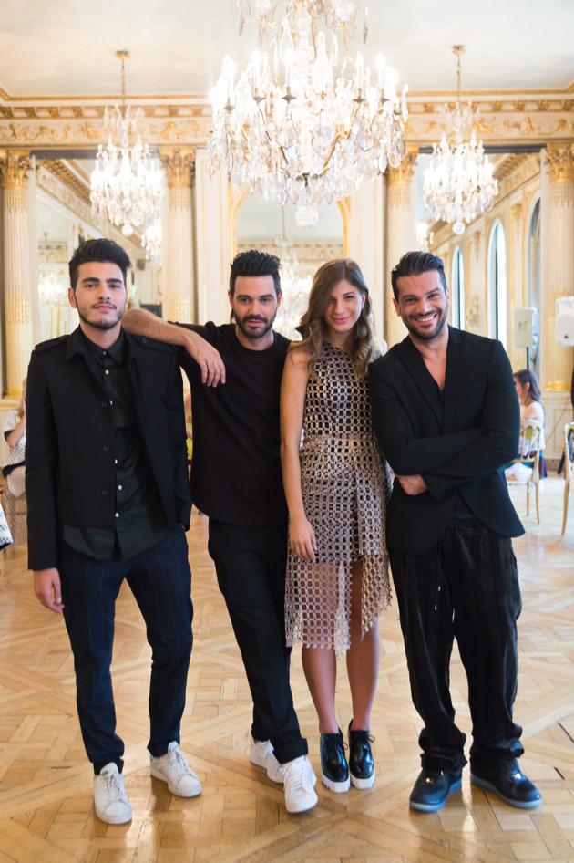 Designers Demos Natar and Andreas Georgiou with Elias and Marina, natargeorgiou spring 2016