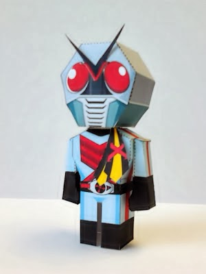 Kamen Rider X Papercraft - Mini Paper Toy