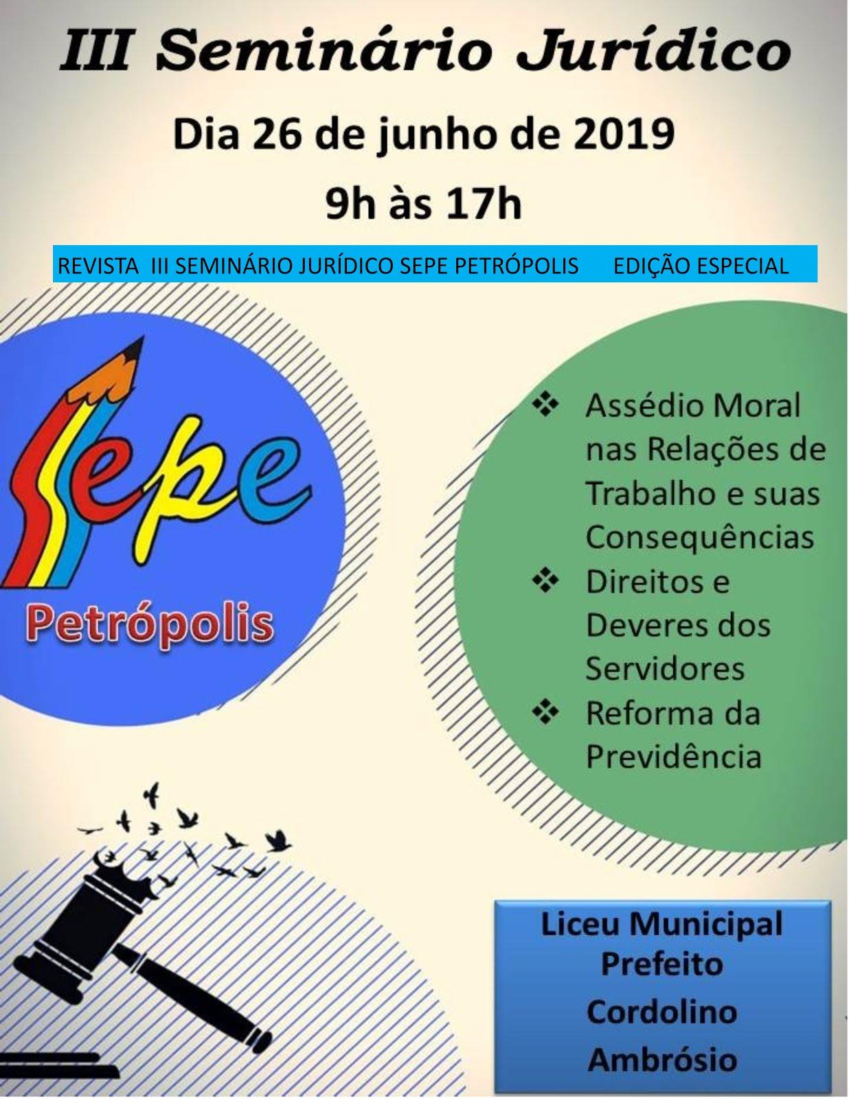 REVISTA DIGITAL SEMINÁRIO JURÍDICO