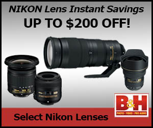 Instant Savings on Nikon Lenses
