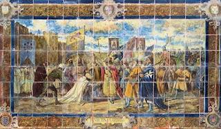Plaza de España, Sevilla - Azulejo de Córdoba (Motivo central)