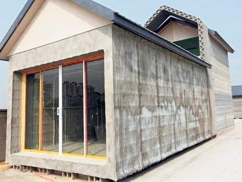Rumah dibina daripada pencetak 3D adalah lebih cepat dan murah