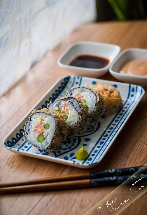 Gebackenes/frittiertes Sushi