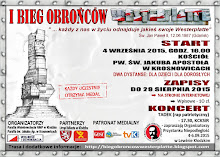 Plakat I Biegu Obrońców Westerplatte w Kłodzku, 4.09.2015