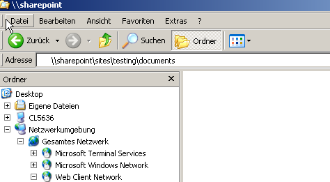 how to open network share overs https in windows explorer