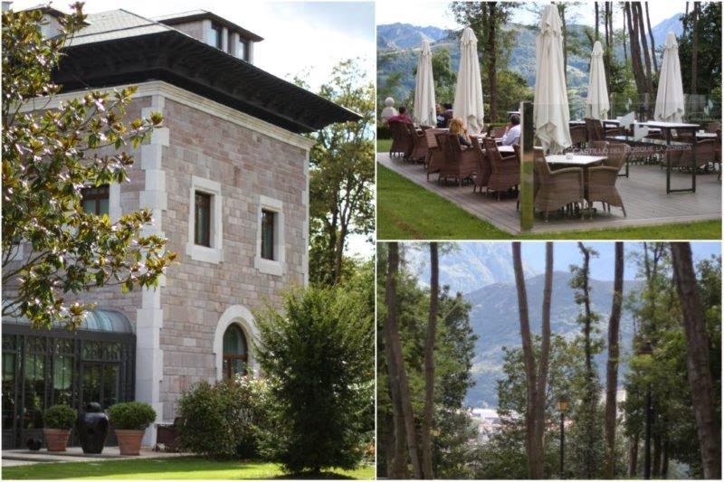 Exterior y terraza del Hotel Castillo Bosque de la Zoreda, Asturias