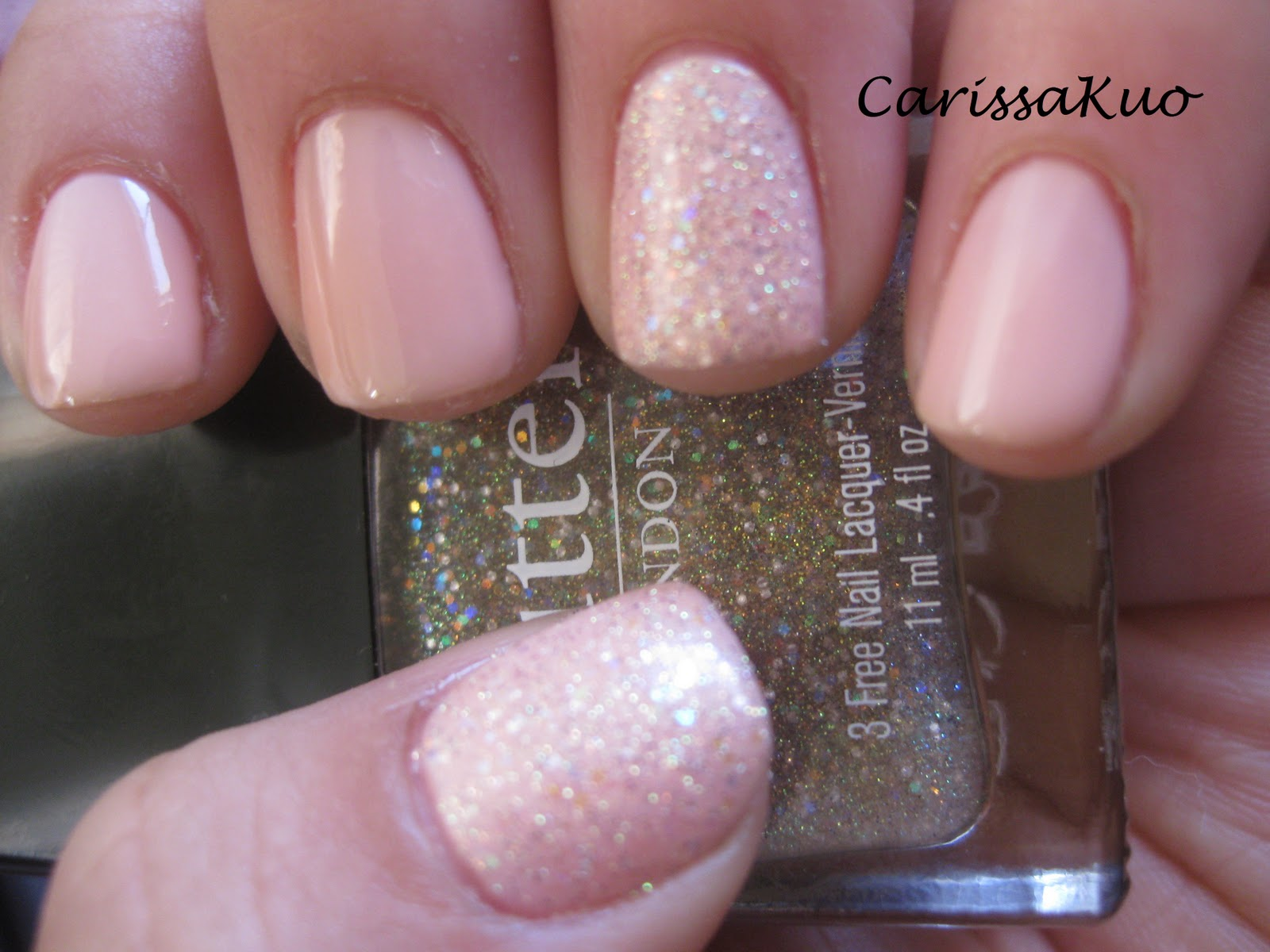 Love Carissa Notd Pink Ribbon With Accent Nails