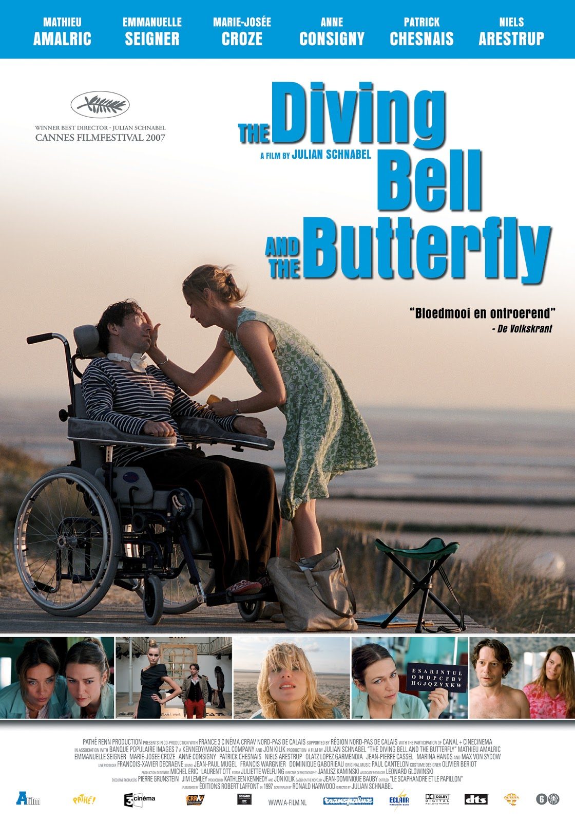 an analysis of julian schnabels perspective in the diving bell and the butterfly The diving bell and the butterfly artist/director julian schnabel's feature-film adaptation of the book was released in 2007, starring mathieu amalric as bauby.