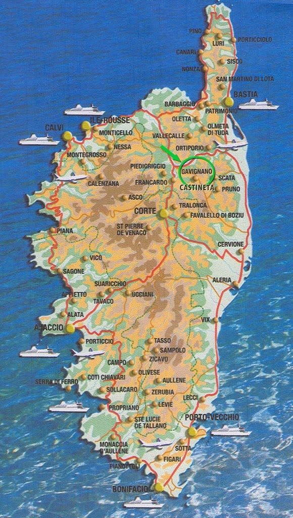 news tourism world: Carte de la Haute-Corse Département