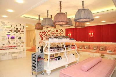 World's First Hello Kitty Spa In Dubai - beauty products and massage bed