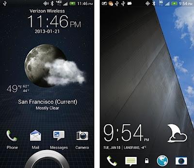Se Han Filtrado Imagenes de lo que sera la interfaz para los smartphones de alta gama que la empresa HTC tiene preparada para este año: Sense 5.0. En comparación con la interfaz de usuario anterior de HTC, el Sense 4+ (la que aparece en la izquierda de las imágenes), se plantea un diseño mucho más estético y limpio, algo característico de sistema operativo Android. Otro cambio es el diseño más plano pero con mejor detalles en las fuentes de los widgets de predicción meteorológica y el de hora, haciéndolos más agradables a la vista. En resumen, la nueva interfaz gráfica