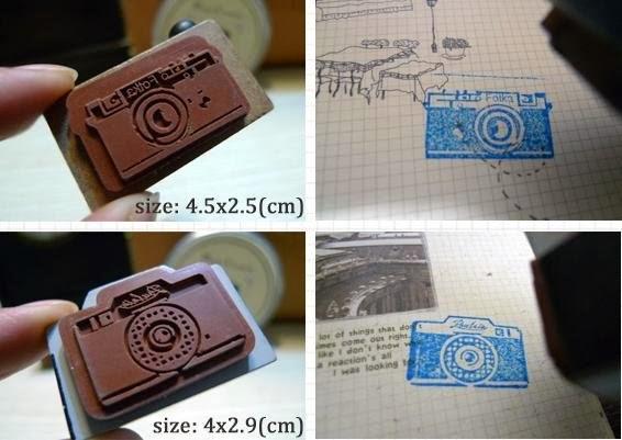 retro camera stamp