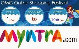 OMG Shopping Festival@ Myntra: Flat 30% Extra Discount on Men's / Women's Fashion Styles (Offer Valid till 10th Dec'14)