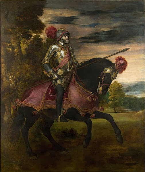 "Picture of ""Equestrian Portrait of Charles V"" by Titian, 1548"