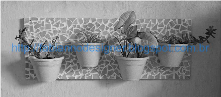 jardim vertical tecido:Jardim Vertical Mosaico