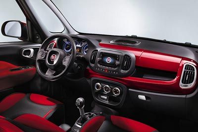 Auto Novita Interni Nuova Fiat 500l 2012