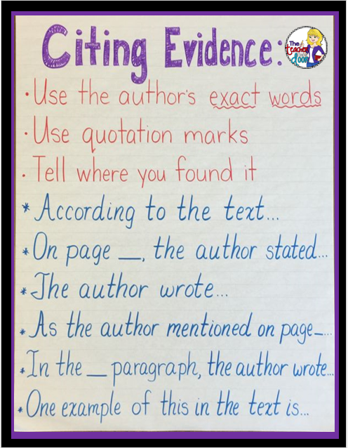 how to cite evidence in an essay