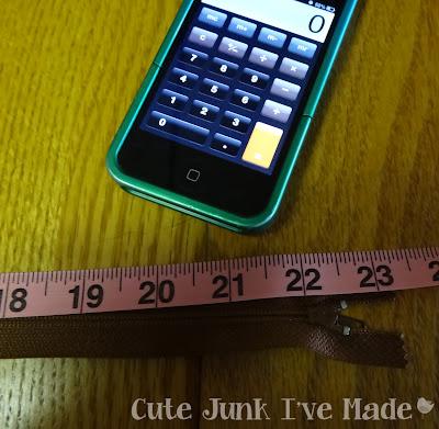 Zipper measurement, calculator
