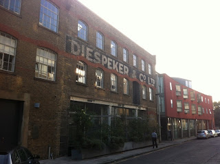 Ghost sign for Diespeker & Co. Ltd., Graham Street, London N1
