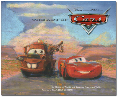 Book cover showing Mater and McQueen