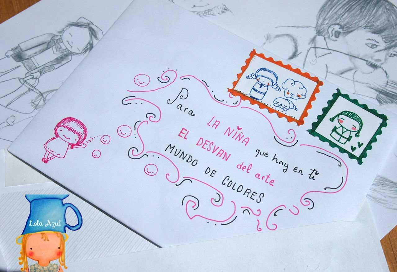 Apuntes de colores una carta para ti - Como decorar un sobre ...