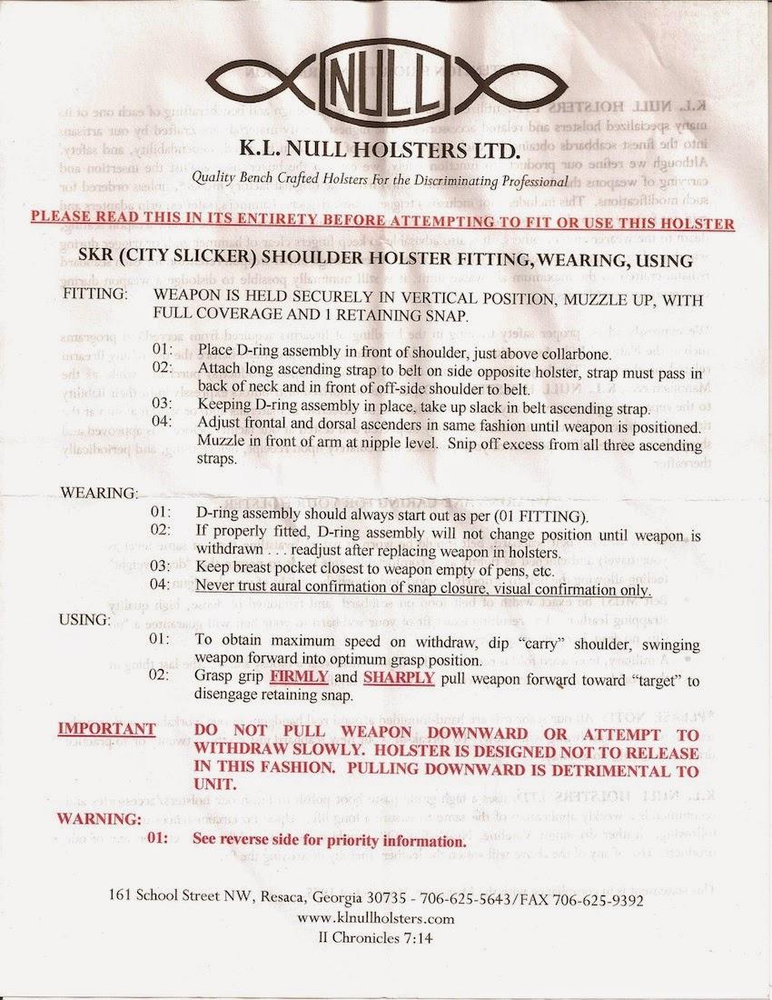 The Next Chapter: Instruction Sheet for Ken Null\'s SKR (City Slicker ...