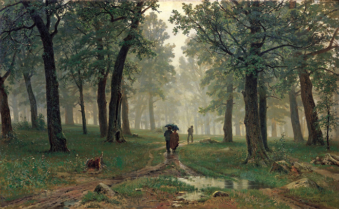 The Flying Clubhouse: Shishkin's Forest // Rain in the Oak Grove, 1891