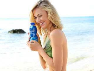Yvonne Strahovski nude bodypaint sexy photo session SoBe ad in Miami HQ