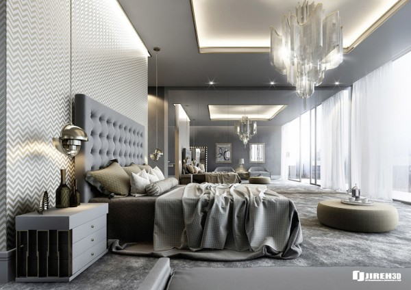 large graphical tree really give it the focal point of the bedroom chocolate brown and neutral wall bed but still rich while stunning vanity and metal