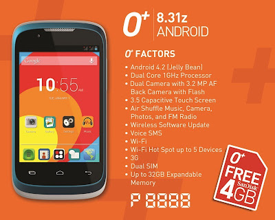 O+ 8.31z Android Specs Price in the Philippines