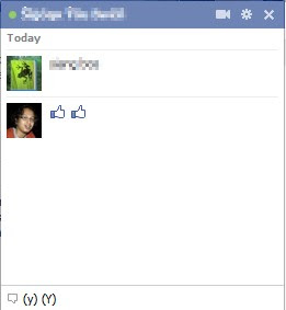 Create Facebook Chat Emoticons Like / Thumb Up