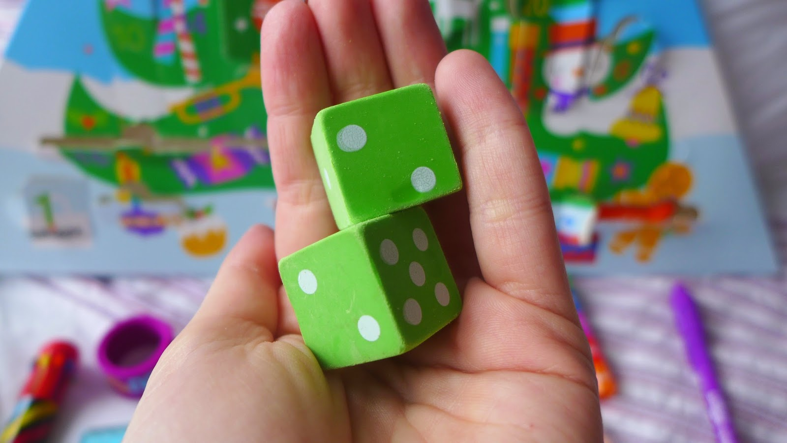 Smiggle Dice Rubbers