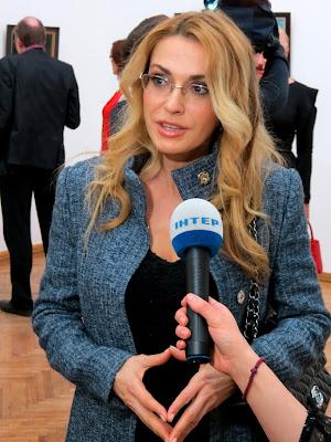 Ольга Сумская на открытии выставки Якова Шапиро