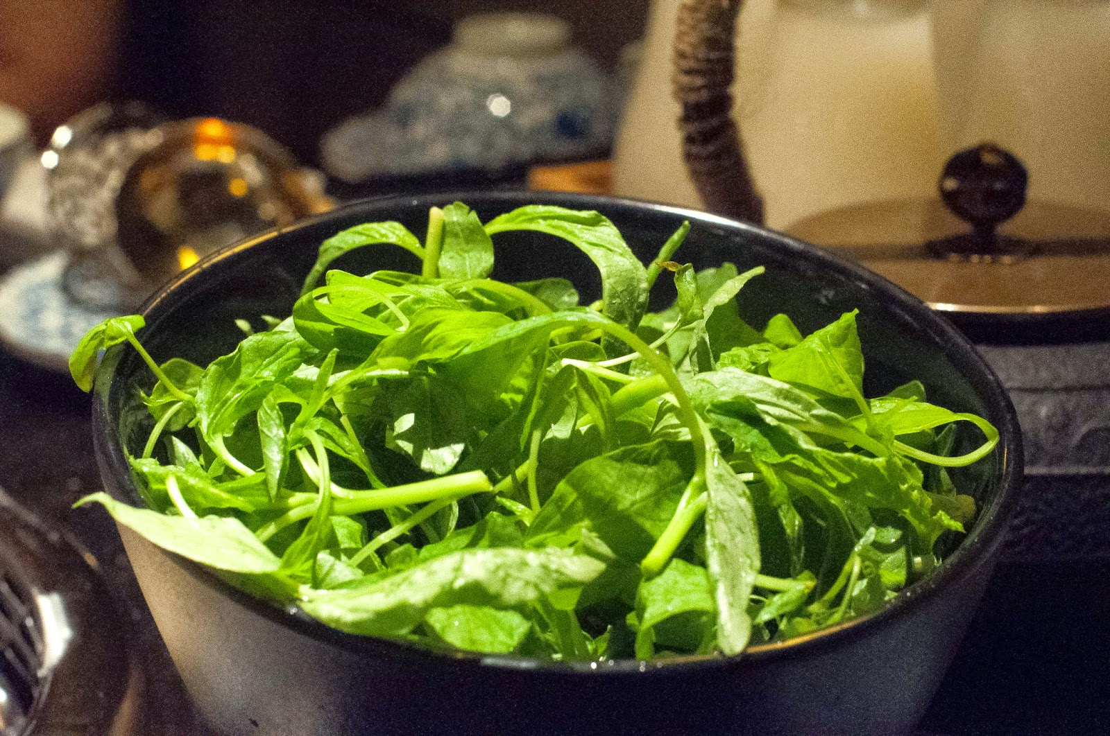 Baby Chinese Spinach — S$2.50 (half portion) Beauty in The Pot